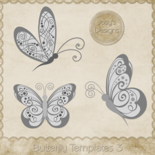 Butterfly Layered Templates 3 by Josy