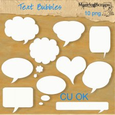 Text Bubbles by Mandog Scraps