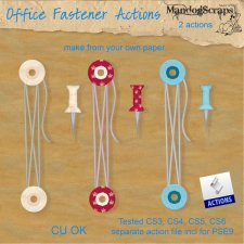 Office Fasteners Action by Mandog Scraps