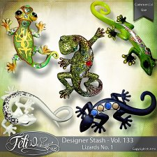 Designer Stash Vol. 133 - Lizards No. 1 by Feli Designs