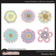 EXCLUSIVE Layered Flowers Set 3 Templates by NewE Designz