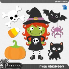 Miss Halloween Layered Template by Peek a Boo Designs