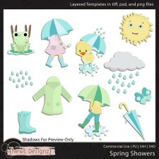 EXCLUSIVE Layered Spring Showers Templates by NewE Designz