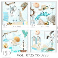 Vol. 0725 to 0728 Summer Sea Mix by D's Design