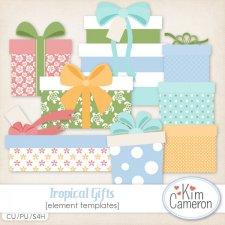 Tropical Gifts Templates by Kim Cameron