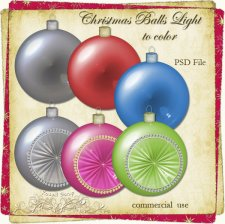 Christmas Balls TEMPLATE Light to Color by Rose.li
