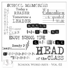 School Word Arts Vol 02 by D's Design