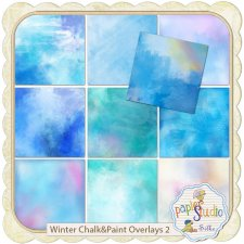 Winter Chalk & Paint Overlays 2 EXCLUSIVE by PapierStudio Silke