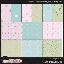 EXCLUSIVE Layered Paper Patterns Templates Set 46 by NewE Designz