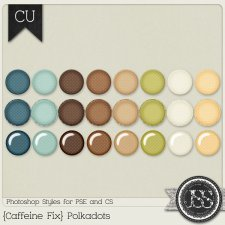 Caffeine Fix Polkadots PS Styles by Just So Scrappy