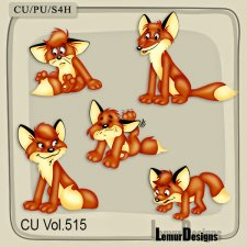 CU Vol 515 Fox Animal Elements by Lemur Designs
