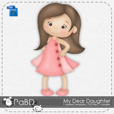 My Dear Daughter Layered Template by Peek a Boo Designs