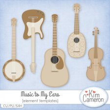 Music to My Ears Templates by Kim Cameron