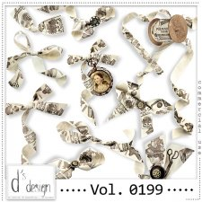 Vol. 0199 - Vintage Ribbons Mix by Doudou's Design
