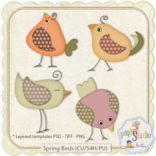 Spring Birds EXCLUSIVE by PapierStudio Silke