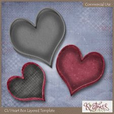 Heart Box Layered Template EXCLUSIVE by Kristmess