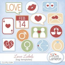 Love Labels Templates by Kim Cameron