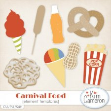 Carnival Food Templates by Kim Cameron