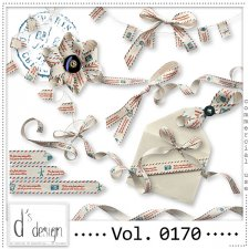 Vol. 0170 - Post Mail Ribbons Mix by Doudou's Design