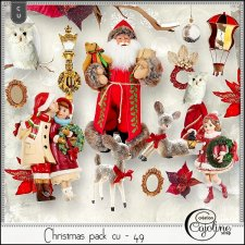 Christmas pack CU - 49 by Cajoline-Scrap