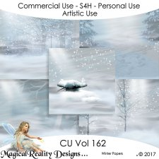 Winter Papers- CU Vol 162 by MagicalReality Designs