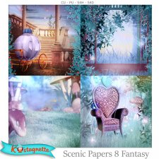 Scenic Papers 8 Fantasy by Kastagnette