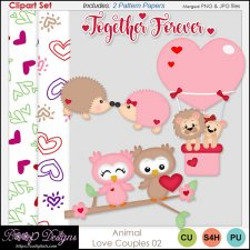 Animal Love Couples CLIPART SET 02 by Boop