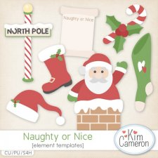 Naughty or Nice Templates by Kim Cameron