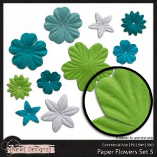 EXCLUSIVE Paper Flowers Set 5 by NewE Designz