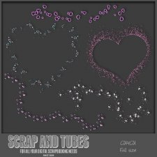 Lot of Hearts CU4CU by Scrap and Tubes