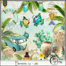 Elements CU - 261 at the beach by Cajoline-Scrap