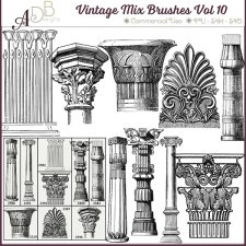 Vintage Mix Brushes Vol 10 by ADB Designs