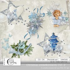 Christmas embellishments - CU 2 by Cajoline-Scrap