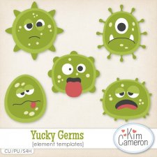 Yucky Germs Templates by Kim Cameron