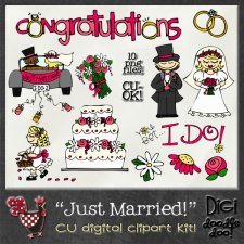 Just Married CU clipart