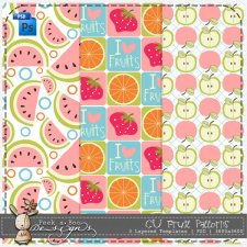 Fruit Patterns by Peek a Boo Designs