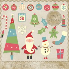 It's Christmas Layered Vector Templates by Josy
