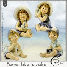 Figurines - Kids at the beach 2 by Cajoline-Scrap