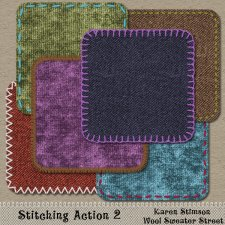 Stitching Action 2 by Karen Stimson