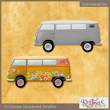 Camper Van Layered Template EXCLUSIVE by Kristmess