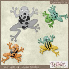 Poison Dart Frog Layered Template