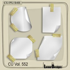 CU Vol 552 Note papers by Lemur Designs