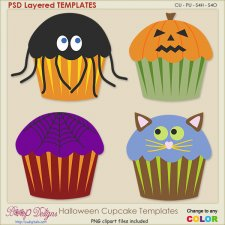 Halloween Cupcake Layered TEMPLATES