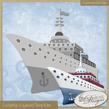 Cruiseship Layered Template EXCLUSIVE by Kristmess
