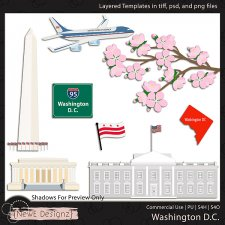 EXCLUSIVE Layered Washington DC Templates By NewE Designz