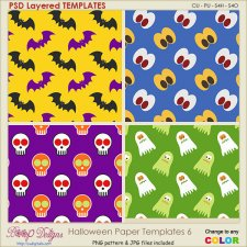 Halloween Pattern Paper TEMPLATES 6