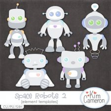 Space Robots 2 Templates by Kim Cameron