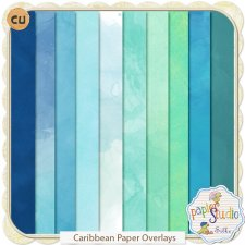 Caribbean Paper Overlays EXCLUSIVE by Papierstudio Silke