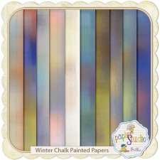 Winter Chalk & Paint Overlays 1 EXCLUSIVE by PapierStudio Silke