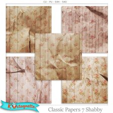 Classic Papers 7 Shabby by Kastagnette